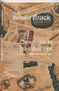 Couverture d'ouvrage: Oenologie et crus des vins